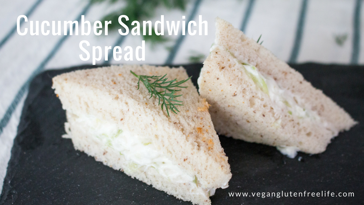 Cucumber sandwich spread is a simply delicious and are the perfect appetizer for your derby party. Makes an amazing delicious savory dip too! www.veganglutenfreelife.com/cucumber-sanwich-spread/